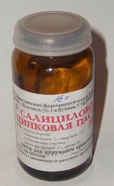 Салицило-цинковая паста
